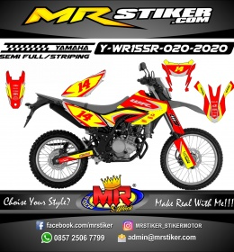 Stiker motor decal Yamaha WR 155 R Red Yellow Race Line Grafis