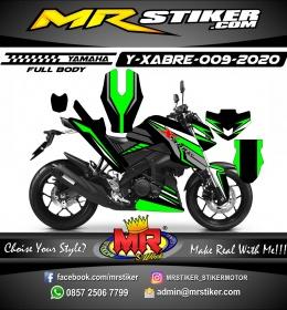 Stiker motor decal Yamaha Xabre Fullbody Race Green Most Split Line