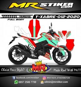 Stiker motor decal Yamaha Xabre Fullbody Red Tech Tosca Line Custom Grafis