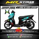 Stiker motor decal Yamaha X-RIDE New Neon Blue Shark 46