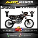 Stiker motor decal Yamaha YZ 250 Orange Line Killer Gray Carbon