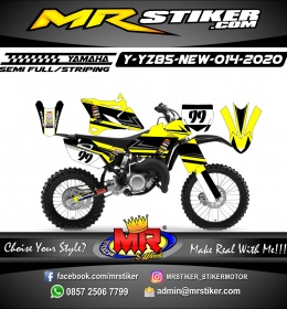 Stiker motor decal Yamaha YZ 85 New Grafis Line Yellow Race