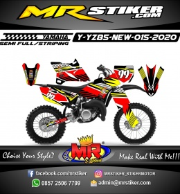 Stiker motor decal Yamaha YZ 85 New Road Race Street Line