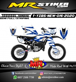 Stiker motor decal Yamaha YZ 85 New Navy Blue White Combine Grafis