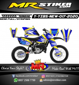 Stiker motor decal Yamaha YZ 85 New Blue Yellow Glasses Grafis