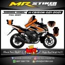 Stiker motor decal Honda CB 150 R New Orange Line Sporty Grafis FullBody