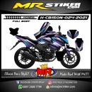 Stiker motor decal Honda CB 150 R New Grafis Purple FullBody