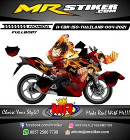 Stiker motor decal Honda CBR 150 THAILAND Luffy One Piece Blood Fire FULLBODY