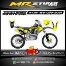 Stiker motor decal Honda CRF 150 Yellow Track Line