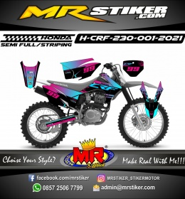 Stiker motor decal Honda CRF 230 Track Gradation Color Splat