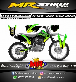 Stiker motor decal Honda CRF 230 Spec Line Green Lime Grafis
