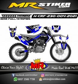 Stiker motor decal Honda CRF 230 Light Grafis Blue Line Trail Race