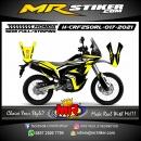 Stiker motor decal Honda CRF 250 Rally Yellow Road Race Strip