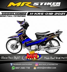 Stiker motor decal Honda Karisma Grafis DarkBlue Gold Line