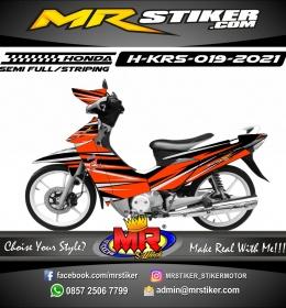 Stiker motor decal Honda Karisma Orange Street Grafis Line
