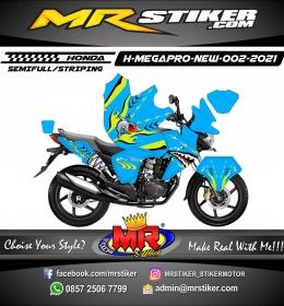 Stiker motor decal Honda Megapro New FullBody Shark Blue