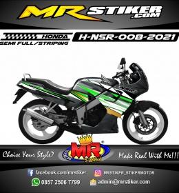 Stiker motor decal Honda NSR Green Silver Mate Grafis