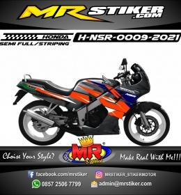 Stiker motor decal Honda NSR Orange Grafis