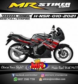 Stiker motor decal Honda NSR Red Carbon White Grafis