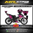 Stiker motor decal Honda Supra GTR Pink Grafis SIlver Mate Elegan (FullBody)