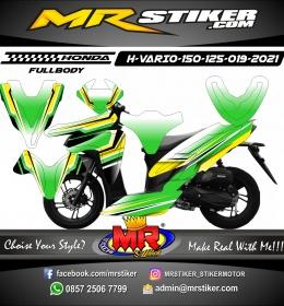 Stiker motor decal Honda Vario 150 Green Gradation Yellow Shadow (FULLBODY)
