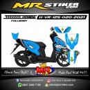 Stiker motor decal Honda Vario 125 Blue Shark (FULLBODY)