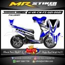 Stiker motor decal Honda Vario CW FI FullBody Fox Blue Grafis