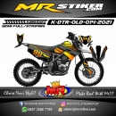 Stiker motor decal Kawasaki D-TRACKER OLD Black Orange Gradation