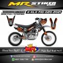 Stiker motor decal Kawasaki KLX 140 Supermotto Skull Helmet Track
