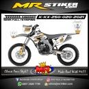 Stiker motor decal Kawasaki KX 250 White Golden Tracker