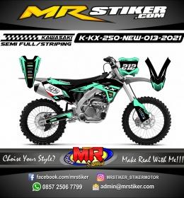Stiker motor decal Kawasaki KX 250 New Tosca Grafis Racing
