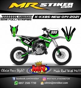 Stiker motor decal Kawasaki KX 85 New Line Green Race Track