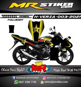 Stiker motor decal Honda Verza Yellow Rockstar (FULLBODY)