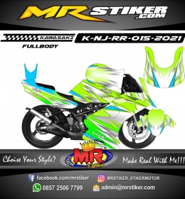 Stiker motor decal Kawasaki Ninja RR Grafis Line Airbrush Racing (FULLBODY)