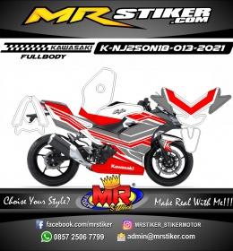 Stiker motor decal Kawasaki Ninja 250 New 2018 Tech Grafis Red (FULLBODY)