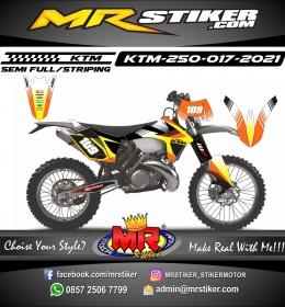 Stiker motor decal KTM 250 Line Grafis Orange Race