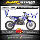 Stiker motor decal KTM 250 White Blue Grafis Ion Gray Line