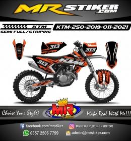 Stiker motor decal KTM 250 2019 Orange Characteristic KTM