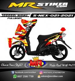Stiker motor decal Suzuki Nex Red Splat Alpinestar (FULLBODY)
