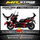 Stiker motor decal Yamaha Xmax Red Cut line White Graphics (FULLBODY)