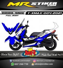 Stiker motor decal Yamaha Xmax Blue White Yamaha Edition Grafis (FULLBODY)