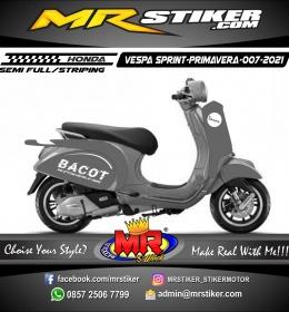 Stiker motor decal Vespa Sprint-Primavera BACOT Gray Color