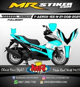 Stiker motor decal Yamaha Aerox 155 New 2021 Petronas Neon Blue