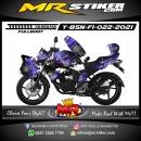 Stiker motor decal Yamaha Byson New Fullbody Full Splat Purple Monster Energy