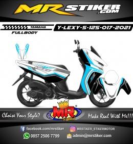 Stiker motor decal Yamaha Lexi 125 Sky Blue Grafis Line Tech FullBody