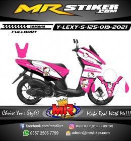 Stiker motor decal Yamaha Lexi 125 Hello Kity FullBody
