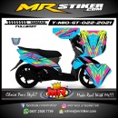 Stiker motor decal Yamaha Mio GT Line Splat Crack Grafis FullBody