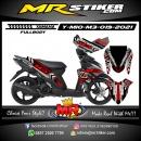 Stiker motor decal Yamaha Mio M3 TldRoad Track Grafis Silver mate Grafis FullBody