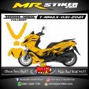 Stiker motor decal Yamaha NMAX Yellow Black Grafis Elegan Fullbody