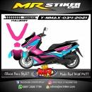 Stiker motor decal Yamaha NMAX Pink Blue Grafis Fullbody